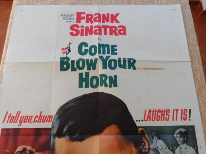 Cine: Come Blow Your Horn Póster original de la película, Original, Doblado, Hecho en U.S.A., año 1963 - Foto 2 - 43725121
