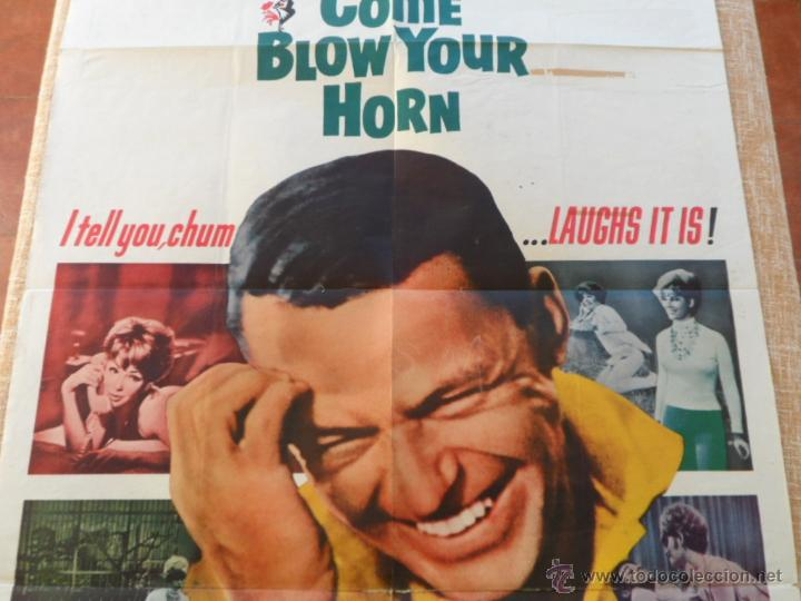 Cine: Come Blow Your Horn Póster original de la película, Original, Doblado, Hecho en U.S.A., año 1963 - Foto 3 - 43725121