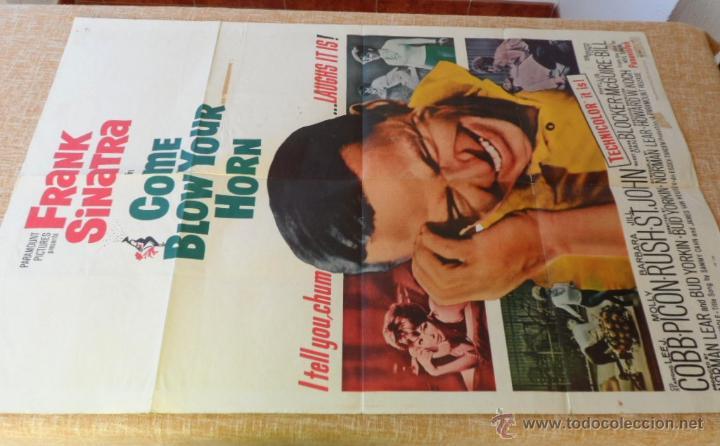Cine: Come Blow Your Horn Póster original de la película, Original, Doblado, Hecho en U.S.A., año 1963 - Foto 7 - 43725121