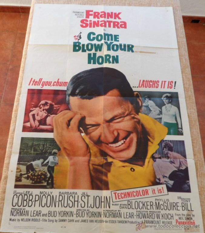 Cine: Come Blow Your Horn Póster original de la película, Original, Doblado, Hecho en U.S.A., año 1963 - Foto 8 - 43725121