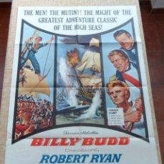 Cine: BILLY BUDD PÓSTER ORIGINAL DE LA PELÍCULA, ORIGINAL, DOBLADO, HECHO EN U.S.A., AÑO 1962, ROBERT RYAN. Lote 43725792