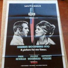 Cine: WUSA PÓSTER ORIGINAL DE LA PELÍCULA, ORIGINAL, DOBLADO, HECHO EN U.S.A., AÑO 1970, PAUL NEWMAN. Lote 43726042