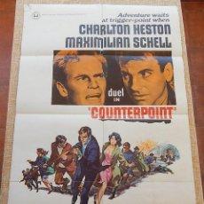 Cine: COUNTERPOINT PÓSTER ORIGINAL DE LA PELÍCULA, ORIGINAL, DOBLADO, HECHO EN U.S.A., AÑO 1968, CHARLTON. Lote 43731590