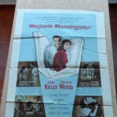 Cine: MARJORIE MORNINGSTAR PÓSTER ORIGINAL DE LA PELÍCULA, ORIGINAL, DOBLADO, HECHO EN U.S.A., AÑO 1958. Lote 43731660