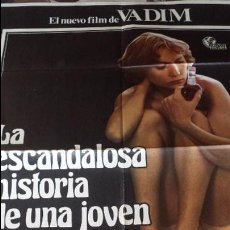 Cine: CINE CARTEL EROTICA: LA ESCANDALOSA HISTORIA DE UNA JOVEN LIBERTINA CLASIFICADA S NX. Lote 43741243