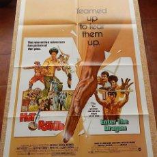 Cine: HOT POTATO / ENTER THE DRAGON PÓSTER ORIGINAL DE LA PELÍCULA, ORIGINAL, DOBLADO, AÑO 1976, U.S.A.. Lote 43742175