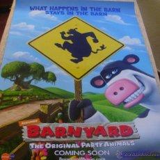 Cine: BARNYARD PÓSTER ORIGINAL DE LA PELÍCULA, ORIGINAL, ENROLLADO, DOBLE CARA, TEASER, AÑO 2006, U.S.A.. Lote 43744341