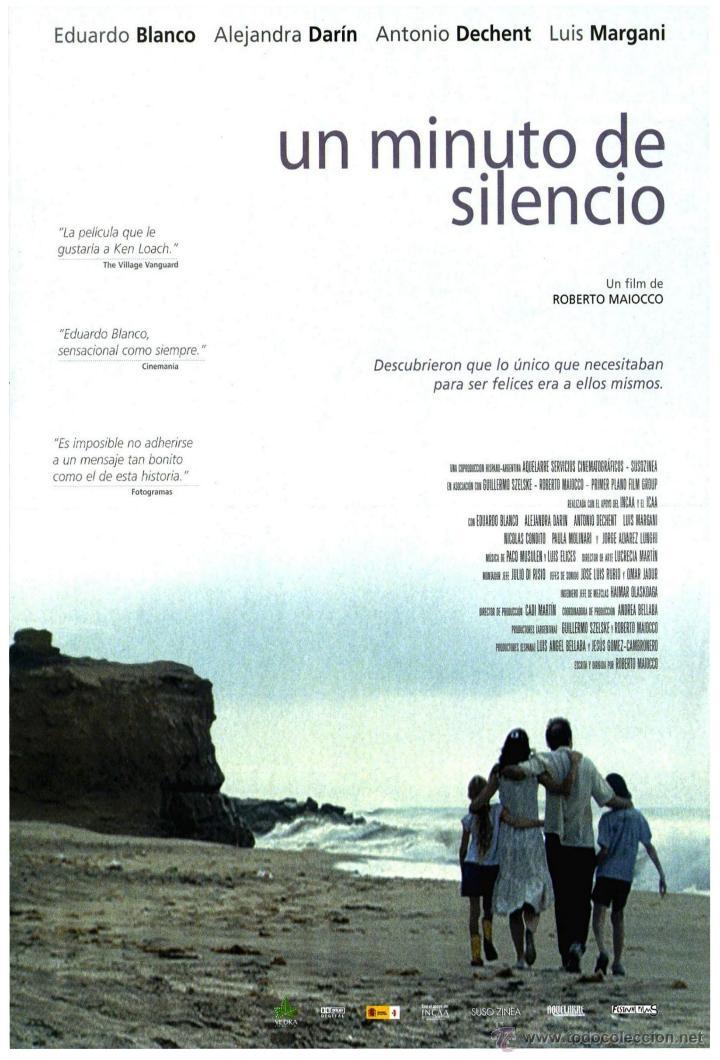 cartel de cine un minuto de silencio // origina - Comprar Carteles y ...