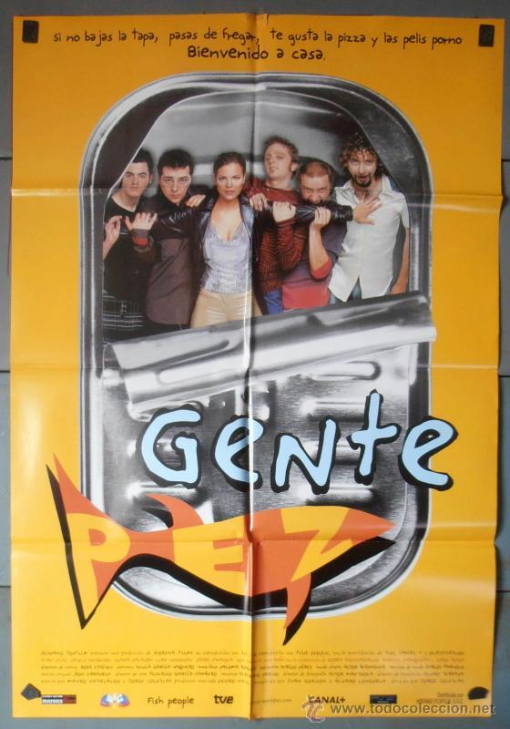 GENTE PEZ, CARTEL DE CINE ORIGINAL 70X100 APROX (3967) (Cine - Posters y Carteles - Comedia)