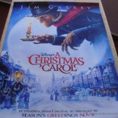 Cine: A CHRISTMAS CAROL PÓSTER ORIGINAL DE LA PELÍCULA, ORIGINAL, ENROLLADO, DOBLE CARA, TEASER, AÑO 2009. Lote 43778307