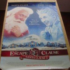Cine: SANTA CLAUS 3: THE ESCAPE CLAUSE PÓSTER ORIGINAL DE LA PELÍCULA, ORIGINAL, ENROLLADO, AÑO 2006. Lote 43778640