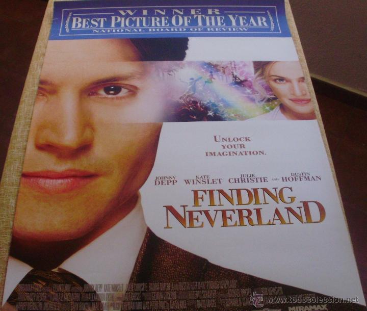 FINDING NEVERLAND PÓSTER ORIGINAL DE LA PELÍCULA, ORIGINAL, ENROLLADO, DOBLE CARA, AÑO 2004 (Cine - Posters y Carteles - Infantil)