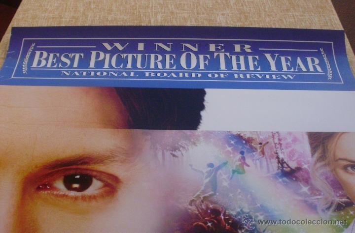 Cine: Finding Neverland Póster original de la película, Original, Enrollado, Doble Cara, año 2004 - Foto 2 - 43778723