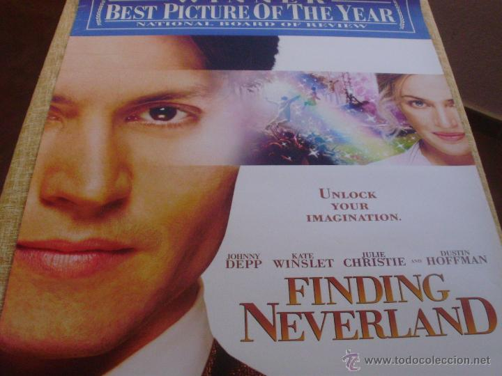 Cine: Finding Neverland Póster original de la película, Original, Enrollado, Doble Cara, año 2004 - Foto 3 - 43778723