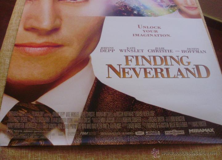Cine: Finding Neverland Póster original de la película, Original, Enrollado, Doble Cara, año 2004 - Foto 4 - 43778723