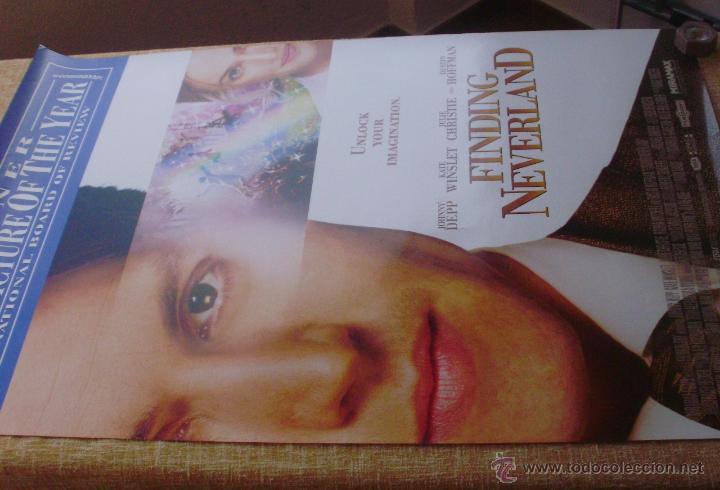 Cine: Finding Neverland Póster original de la película, Original, Enrollado, Doble Cara, año 2004 - Foto 5 - 43778723
