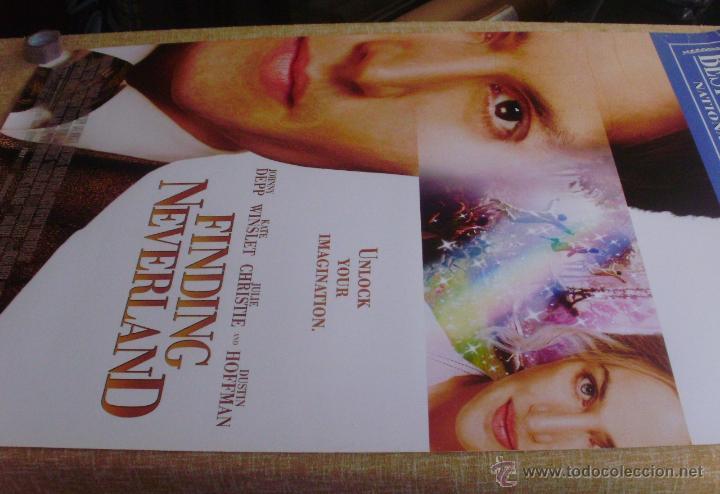 Cine: Finding Neverland Póster original de la película, Original, Enrollado, Doble Cara, año 2004 - Foto 6 - 43778723