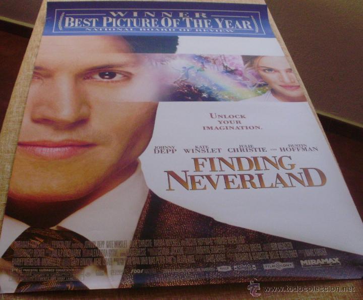Cine: Finding Neverland Póster original de la película, Original, Enrollado, Doble Cara, año 2004 - Foto 7 - 43778723