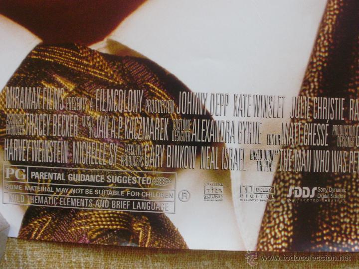 Cine: Finding Neverland Póster original de la película, Original, Enrollado, Doble Cara, año 2004 - Foto 10 - 43778723
