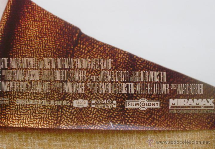 Cine: Finding Neverland Póster original de la película, Original, Enrollado, Doble Cara, año 2004 - Foto 11 - 43778723