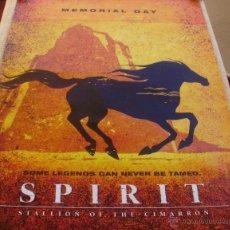 Cine: SPIRIT: STALLION OF THE CIMARRON PÓSTER ORIGINAL DE LA PELÍCULA, ORIGINAL, ENROLLADO, TEASER, 2002. Lote 43779884