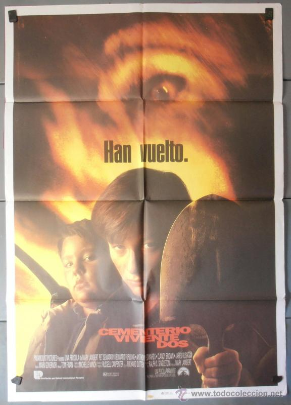 CEMENTERIO VIVIENTE DOS, CARTEL DE CINE ORIGINAL 70X100 APROX (4213) (Cine - Posters y Carteles - Terror)