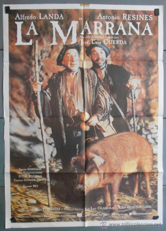 LA MARRANA,ALFREDO LANDA, ANTONIO RESINES CARTEL DE CINE ORIGINAL 70X100 APROX (4487) (Cine - Posters y Carteles - Clasico Español)