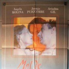 Cine: MAL DE AMORES,ANGELA MOLINA CARTEL DE CINE ORIGINAL 70X100 APROX (4901). Lote 43858663