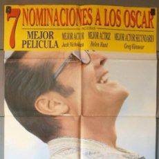 Cine: MEJOR IMPOSIBLE,JACK NICHOLSON CARTEL DE CINE ORIGINAL 70X100 APROX (5000). Lote 43858849
