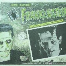 Cine: FRANKENSTEIN - BORIS KARLOFF - LOBBY CARD - MINI POSTER - TERROR - ORIGINAL. Lote 43899486