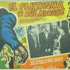 Cine: EL FANTASMA DE LA CALLE MORGUE - LOBBY CARD - MINI POSTER - TERROR - ORIGINAL. Lote 43899516