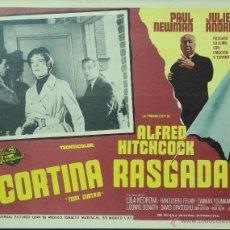 Cine: CORTINA RASGADA - TORN CURTAIN - PAUL NEWMAN - HITCHCOCK - LOBBY CARD - MINI POSTER - ORIGINAL. Lote 43899841