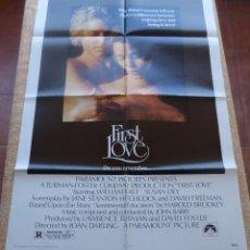 Cine: FIRST LOVE PÓSTER ORIGINAL DE LA PELÍCULA, ORIGINAL, DOBLADO, AÑO 1977, WILLIAM KAT, HECHO EN U.S.A.. Lote 43924195