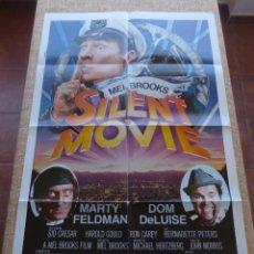 Cine: SILENT MOVIE PÓSTER ORIGINAL DE LA PELÍCULA, ORIGINAL, DOBLADO, AÑO 1976, MARTY FELDMAN, U.S.A.. Lote 43924410