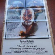 Cine: ISLANDS IN THE STREAM PÓSTER ORIGINAL DE LA PELÍCULA, ORIGINAL, DOBLADO, AÑO 1977, HECHO EN U.S.A.. Lote 43956950