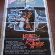 Cine: VOYAGE OF THE ROCK ALIENS PÓSTER ORIGINAL DE LA PELÍCULA, ORIGINAL, DOBLADO, AÑO 1984, HECHO EN USA. Lote 43957238
