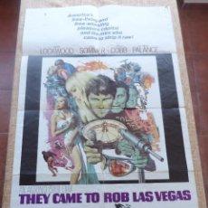 Cine: THEY CAME TO ROB LAS VEGAS PÓSTER ORIGINAL DE LA PELÍCULA, ORIGINAL, DOBLADO, AÑO 1968, HECHO EN USA. Lote 43958231