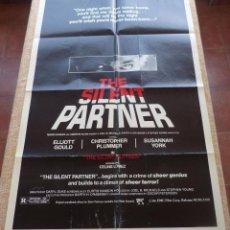 Cine: THE SILENT PARTNER PÓSTER ORIGINAL DE LA PELÍCULA, ORIGINAL, DOBLADO, AÑO 1979, HECHO EN U.S.A.. Lote 43975088