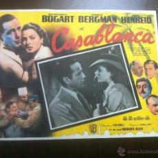 Cine: PRECIOSO Y UNICO CARTEL ANTIGUO DE LA PELICULA CASABLANCA - MUY BUEN ESTADO DE CONSERVACIÓN - . Lote 43981184