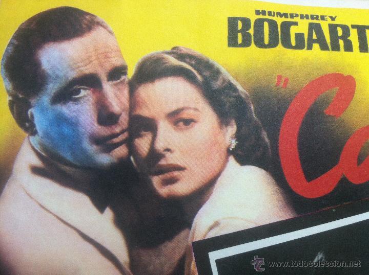 Cine: Precioso y unico cartel antiguo de la pelicula Casablanca - muy buen estado de conservación - - Foto 2 - 43981184
