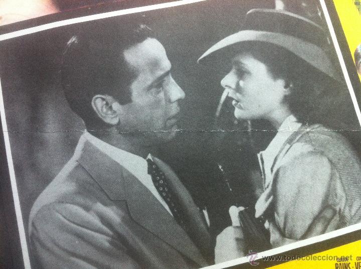 Cine: Precioso y unico cartel antiguo de la pelicula Casablanca - muy buen estado de conservación - - Foto 3 - 43981184