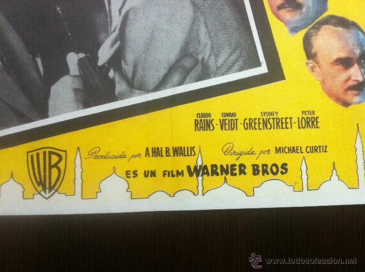Cine: Precioso y unico cartel antiguo de la pelicula Casablanca - muy buen estado de conservación - - Foto 4 - 43981184