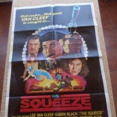 Cine: THE SQUEEZE PÓSTER ORIGINAL DE LA PELÍCULA, ORIGINAL, DOBLADO, AÑO 1980, KAREN BLACK, HECHO EN U.S.A. Lote 43999738
