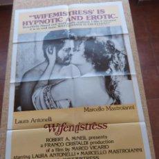 Cine: WIFEMISTRESS PÓSTER ORIGINAL DE LA PELÍCULA, ORIGINAL, DOBLADO, AÑO 1978, HECHO EN U.S.A.. Lote 44001211