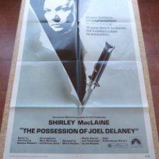 Cine: THE POSSESSION OF JOEL DELANEY PÓSTER ORIGINAL DE LA PELÍCULA, ORIGINAL, DOBLADO, AÑO 1972, U.S.A.. Lote 44013851
