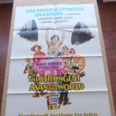 Cine: THE STRONGEST MAN IN THE WORLD PÓSTER ORIGINAL DE LA PELÍCULA, ORIGINAL, DOBLADO, AÑO 1975, U.S.A.. Lote 44036505