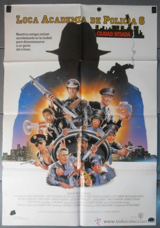 LOCA ACADEMIA DE POLICIA 6, CARTEL DE CINE ORIGINAL 70X100 APROX (7678) (Cine - Posters y Carteles - Comedia)