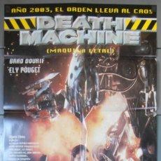 Cine: DEATH MACHINE, CARTEL DE CINE ORIGINAL 70X100 APROX (7724). Lote 44036810