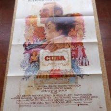 Cine: CUBA PÓSTER ORIGINAL DE LA PELÍCULA, ORIGINAL, DOBLADO, AÑO 1979, SEAN CONNERY, HECHO EN U.S.A.. Lote 44036935