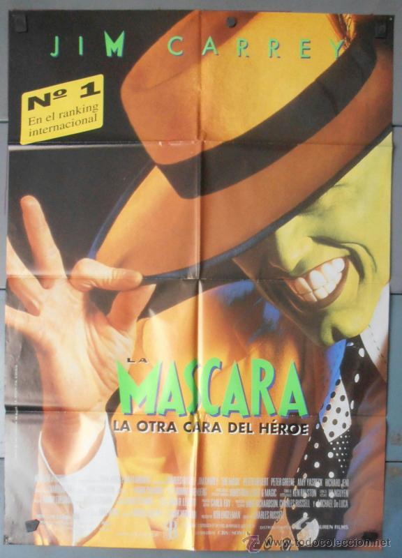 LA MASCARA,JIM CARREY CARTEL DE CINE ORIGINAL 70X100 APROX (7814) (Cine - Posters y Carteles - Comedia)